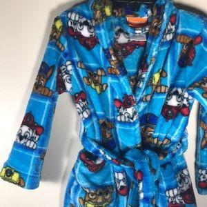 Paw Patrol Bath robe boys girls blue 3T